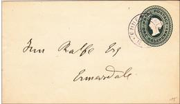 NATAL - 1901 - ENVELOPPE ENTIER POSTAL De ENNERSDALE (CACHET VIOLET) - Natal (1857-1909)