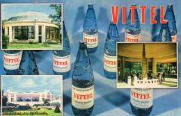 Publicité Eau Minérale VITTEL - Sources De Santé - Advertising
