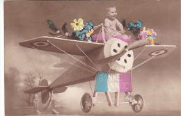 23309 Avion Bonne Année Enfant Maquette -ed Mug 697  Nicou Clichy France -fantaisie Monoplace