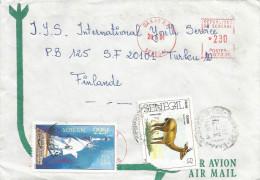 """Senegal 1991 Dakar RP Oribi Antilope Statue Of Liberty Meter Franking Havas """"P"""" 107331 EMA Cover - Senegal (1960-...)"""