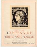CENTENAIRE Du TIMBRE 1849-1949 - PROJET VASSILEFF - Erinnophilie