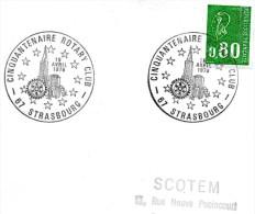 Pli Avec Cachet  (( Cinquantenaire Rotary Club Strasbourg Le 15 Avril 1978 )) - Marcophilie (Lettres)