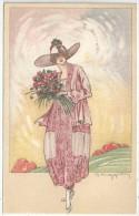 G. MUGGIANY - Jeune Femme - Bouquet De Fleurs - Série 37 - Other Illustrators