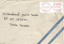 Senegal 1987 Dakar RP 2 Meter Franking Without Prefix PO2. Camp 002 Printed On Label EMA Cover - Senegal (1960-...)