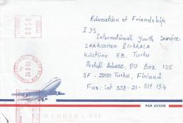 Guinee Guinea 1998 Conakry Aeroport Meter Franking Satas Post Office Stamp SJ 1844 EMA Cover - Guinee (1958-...)