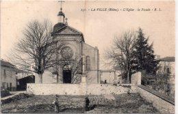 """LA VILLE (ca Thizy) """"L'église """" La Façade - France"""