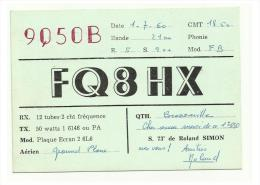FRANCE  Amateur Radio - FQ8HX - 1960 - Radio Amateur