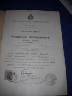 PAGELLA SCOLASTICA SCUOLA TECNICA SAMMARTINO - PARDO DI CATANIA - CLASSE TERZA - ANNO 1898 - Diplômes & Bulletins Scolaires