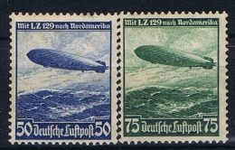 Deutsche Reich: Mi 606 -607, Not Used (*), As Issued. - Luftpost