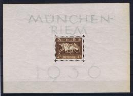 Deutsche Reich: Mi Block 4 X Stamp Is MNH/**, Border Is Hinged. MH/* - Blocks & Kleinbögen