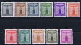 Deutsche Reich: Mi Dienstmarken 155 - 165 MNH/** - Dienstpost