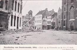 BEL30/ Nu Kopen, Lot 2x Dendermonde 1914 Beschietingen Cliché Mauquoy Antwerpen (14-18) - Dendermonde