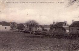 Jarzé..belle Vue Du Bourg..à L'arrivée De Sermaise - Other Municipalities