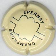 CAPSULE-CHAMPAGNE EPERNAY N°01 Crème & Noir - Epernay