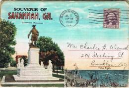 7532. Paquete Postales Souvenir SAVANNAH (Georgia) 1933 - Savannah