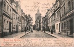 !  Alte Ansichtskarte Gruss Aus Sprottau, Neustrasse, Szprotawa, Polen, Pologne, Poland, Polska - Polen