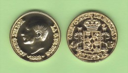 FILIPINAS  (Colonia Española-Rey Alfonso XII) 4 PESOS  1.882  ORO/GOLD  KM#151  SC/UNC  T-DL-10.765 REPLICA  Espa. - Filipinas