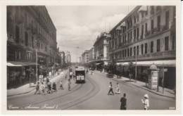 Cairo Egypt, Avenue Fouad I Street Scene, Street Car, Posters On Kiosk, C1920s Vintage Real Photo Postcard - Cairo