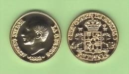 ESPAGNE / ALFONSO XII  FILIPINAS (MANILA)  4 PESOS  1.882  ORO/GOLD  KM#151  SC/UNC  T-DL-10.765 COPY  Fran. - Provincial Currencies