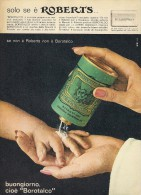 # BOROTALCO MANETTI & ROBERTS Florence 1960s Advert Pubblicità Publicitè Reklame Firenze Talc Talcum Powder Cosmetics - Perfume & Beauty