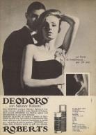 # DEODORO MANETTI & ROBERTS Florence 1960s Advert Pubblicità Publicitè Reklame Firenze Deodorant Desodorant Cosmetics - Perfume & Beauty