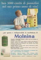 # MOLNINA MANETTI & ROBERTS Florence 1960s Advert Pubblicità Publicitè Reklame Firenze Pannolini Borotalco Cosmetics - Unclassified