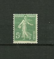 FRANCE  1907/1920  Type Semeuse Fond Plein Sans Sol   N° 137a, NEUF - France