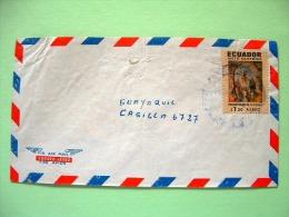 Ecuador 1971 Cover To Guayaquil - Art Of Quito - Painting - Presentation Of The Virgin - Scott C473 - Ecuador