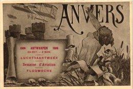 AVIATION   1 CP ANVERS 1909 Luchtvaartweek  Flugwoche  Semaine D'Aviation - ....-1914: Precursors
