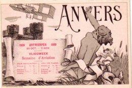 AVIATION   1 CP ANVERS 1909 Luchtvaartweek  Flugwoche  Semaine D'Aviation   Prix Des Places - ....-1914: Precursors