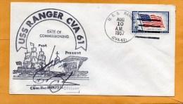 USA Ranger 1957 Ship Cover - Barcos