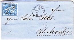 Switzerland   Cover  1863 - 1862-1881 Sitted Helvetia (perforates)