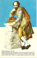 WILLIAM SHAKESPEARE 1564-1616- POSCARD WITH SHAKESPEARE. NUEVA! NEW- ORIGINAL!GECKO. - Esculturas