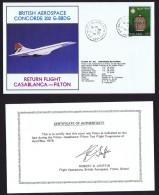 BA    Casablanca - Filton   Return Flight From Test Flight Programme  May 9, 1978 - Concorde