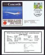 BA  Banco Industrial De Cataluna  London - Barcelona Charter Flight Feb. 24, 1979 - Concorde
