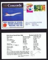 BA  Banco Industrial De Cataluna   Barcelona  - New  York Charter Flight Feb. 25, 1979 - Concorde