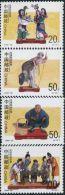 AA0740 China 1996 Colorful Folk 4v MNH - 1949 - ... People's Republic