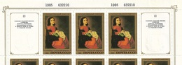Russia/USSR 1985,Spanish Artists Hermitage,Full Sheet,Sc 5335,MNH** - 1923-1991 USSR