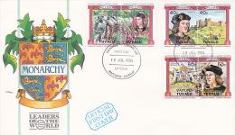 Tuvalu Vaitupu 1984 Monarchy FDC - Tuvalu