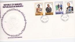 Vanuatu 1981 60th Birthday Duke Of Edinburgh FDC - Vanuatu (1980-...)