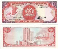 Trinidad-Tobago P36c, $1, Scarlet Ibis / Point Lisas, Tringen Oil Refinery, 1985 - Trinidad & Tobago