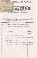 1937 FONDERIE & CONSTRUCTIONS MECANIQUE MATERIEL VINICOLE ANCIENNE MAISON F. BOUDET ETS SERRADO SAINT-THIBERY HERAULT - 1900 – 1949