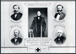 P. Red Cross / Croix Rouge - 150 Years Of Humanitarian Action. Appia, Dufour, Henry Dunant, Maunoir, Moynier - 1863 - Cruz Roja