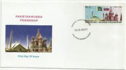 PAKISTAN MNH 2011 FDC FIRST DAY PAKISTAN-RUSSIA FRIENDSHIP - Pakistan