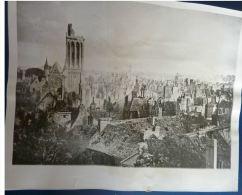 Photo Originale CAEN WWII BOMBARDEMENTS DEBARQUEMENT BATAILLE NORMANDIE Ruines Débarquement - War, Military