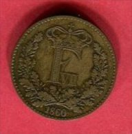 FERDINAND VII 1 SKILLING 1860 TB 5 - Denemarken