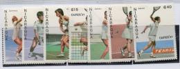 Serie Nº 1459/60+ A- 1175/9  Tenis Nicaragua - Tennis