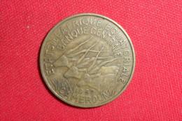 """25 Francs/ """"Afrique Equatoriale Française"""" De 1962/(GR.L.Bazor) TTB - Monnaies"""