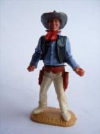 FIGURINE TIMPO TOYS - COW BOY tireur de face STATIQUE 2 revolvers  - BRITAIN (revolvers manquants)
