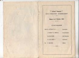 Messageries Maritimes Bateau Viet Nam Liste Des Passagers Du 6 Octobre 1953 - Boats